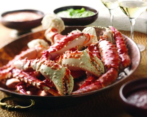 king crab on plate