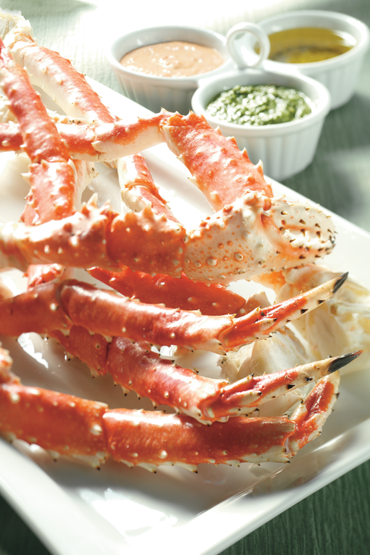 Alaska King Crab with Dipping Sauces Images