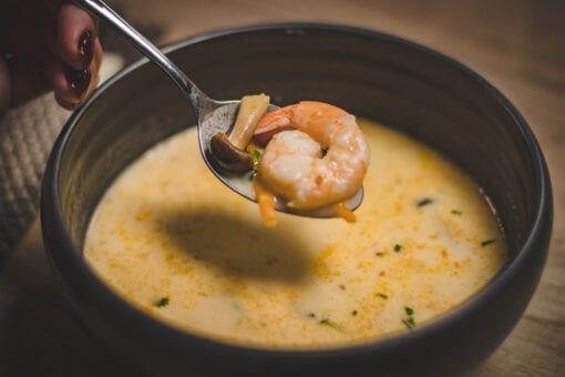 Bowl of Shrimp Chowder