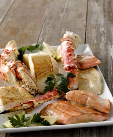 image of a plate of seafood