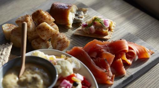 seafood on platter