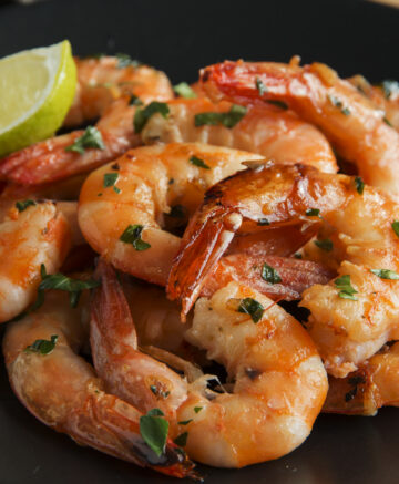 cooked shrimp on plate